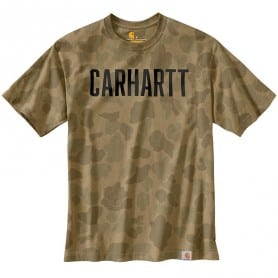 T-shirt homme militaire camouflage CARHARTT 104346