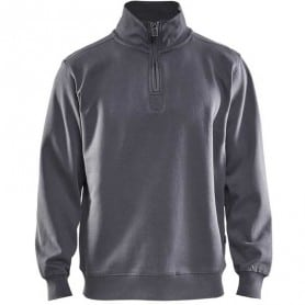 Sweat col camionneur BLAKLADER gris