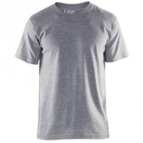 T-shirt col rond gris