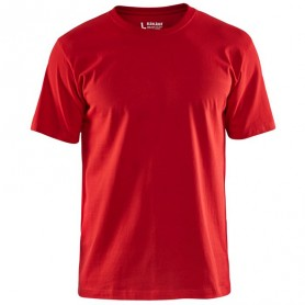 T-shirt col rond coton rouge