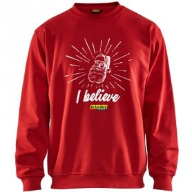 "Sweat de travail Noël ""I believe"" BLAKLADER A130"