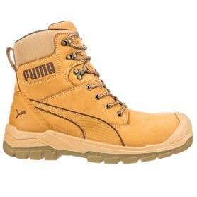 Bottines de sécurité en cuir miel S3 PUMA Conquest 630650