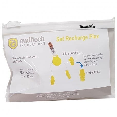 Pack 10 embouts de rechange Flex jaunes AUDITECH