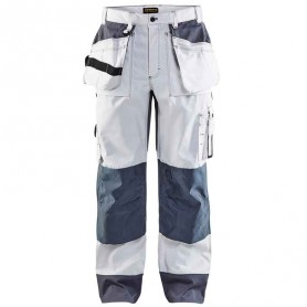Pantalon de travail artisan Blaklader blanc
