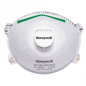 20 masques à usage unique FFP2 avec valve HONEYWELL 5211
