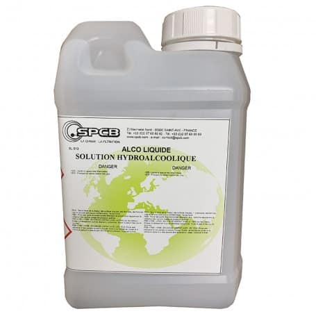 Solution hydroalcoolique multi-usages bidon 1L SPCB Alco liquide