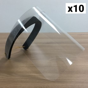 10 visières de protection transparentes TU SKINPACK