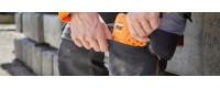 Genouillères de protection pour pantalons de travail